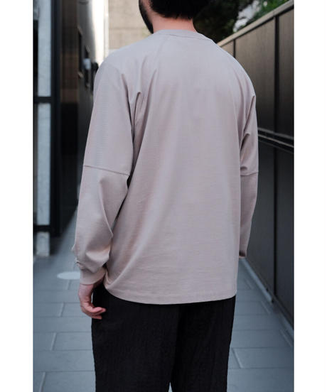 ULTERIOR / SUVIN COTTON L/S POCKET TEE / col.ROSE GRAY