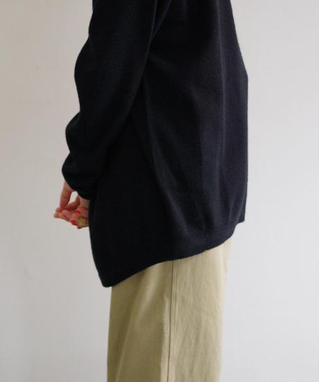 YOKO SAKAMOTO / WOOL CASHMERE MOCK NECK / col.ブラック / Lady's