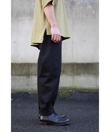 THE HINOKI / オーガニックコットンチノ OSFAワイドパンツ / col.BLACK
