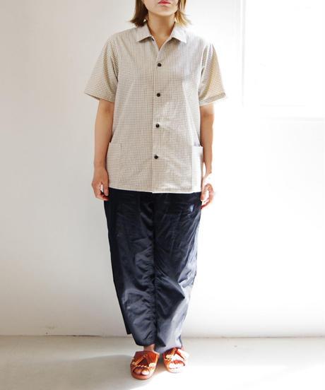THE HINOKI / オーガニックコットン 半袖シャツ / col.チェック / size 1 / Lady's