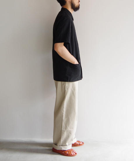 THEHINOKI / パラシュートクロス 半袖シャツ / col.ブラック