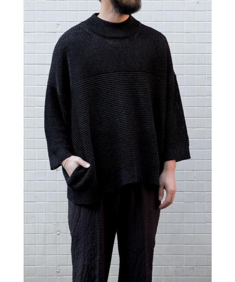 YOKO SAKAMOT / PAPER KNIT T-SHIRT / col.BLACK
