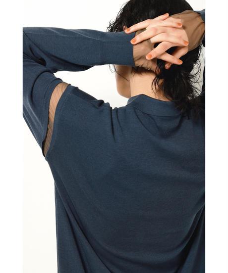 SUPER120 ZIP UP KNIT DRESS