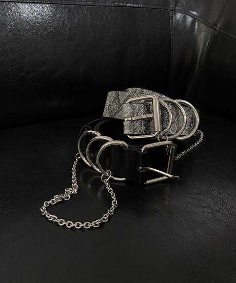 【cult select】Ring chain belt (CTK0137)