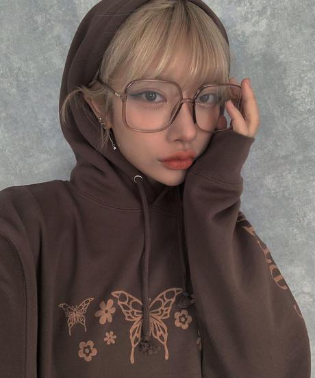 【cult select】Square clear glasses (CTK0033)