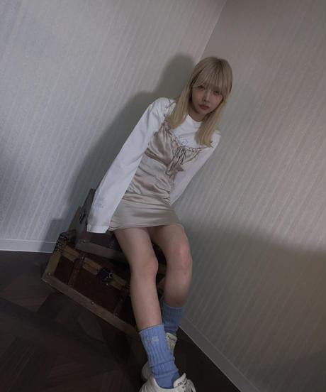 【cult select】Satin long camisole  (CTK0134)