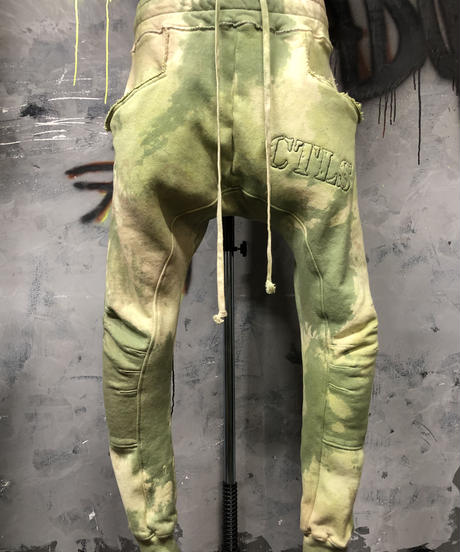 CTLS  camouflage dyed usual sweat pants