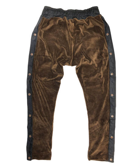 VELOURS SIDESNAP PANTS chocolate