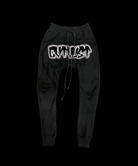 CTLS   black felt emblem   usual sweat pants