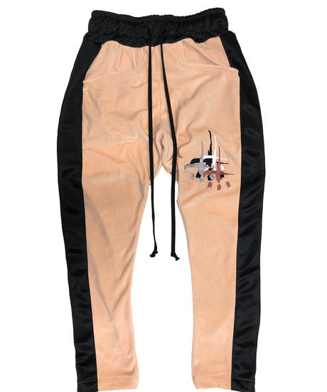 VELOURS SIDESNAP PANTS ashed pink