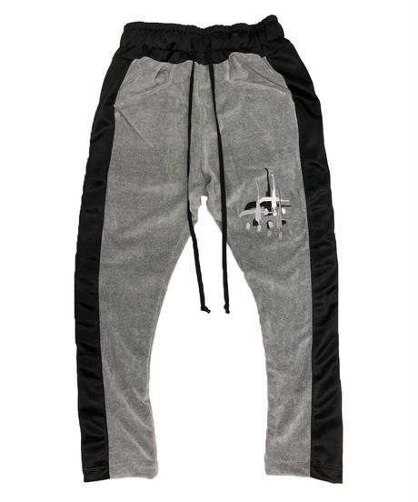 VELOURS SIDESNAP PANTS heather gray