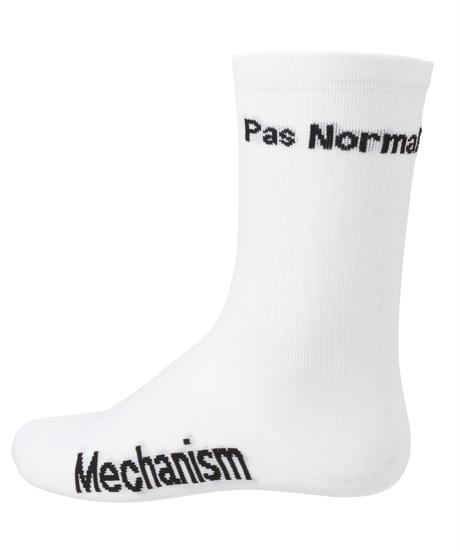 PNS SOCKS -(Pas Normal Studiosロゴ/NI36E-5100) WHITE 2019
