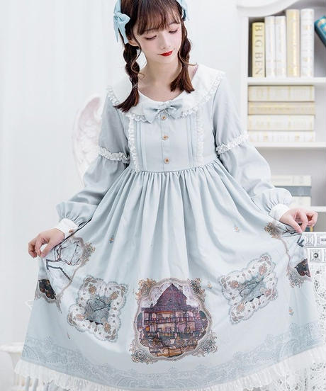 【d.Alice】パステルホワイトワンピース