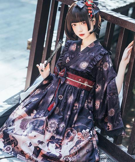 【d.Alice】KIMONOワンピース