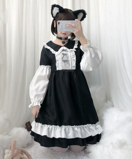 【d.Alice】白黒ワンピース