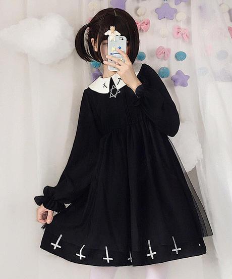 【d.Alice】六芒星ワンピース(ブラック)