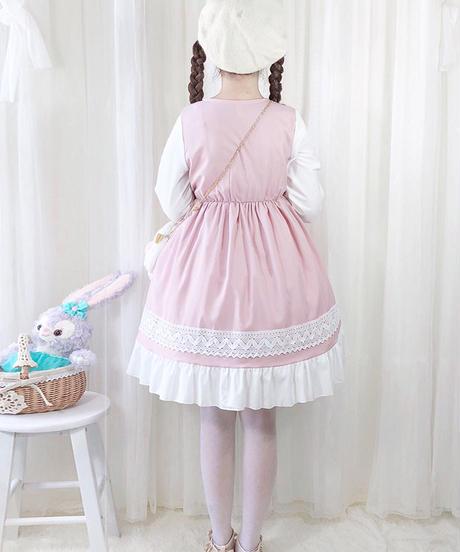 【d.Alice】ロリィタワンピース(ピンク・ブラック)
