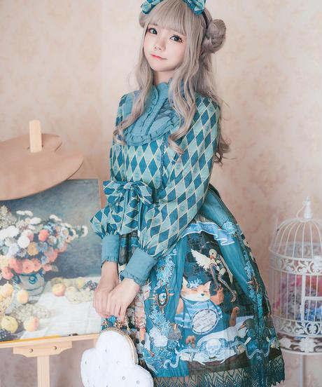 【d.Alice】アーガイル柄 ワンピース
