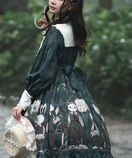 【d.Alice】三角襟うさちゃんワンピース