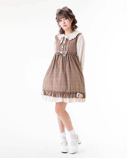 【d.Alice】タータンチェック長袖ワンピース