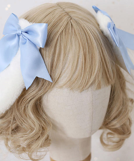 【d.Alice】うさみみヘアクリップ(3色)