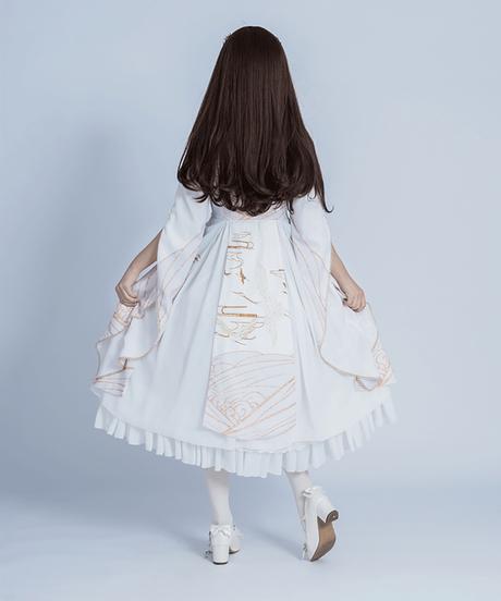 【d.Alice】チャイナホワイト ロングワンピース