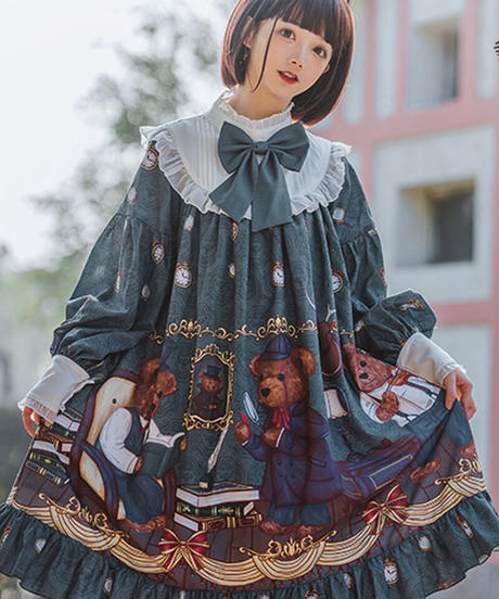 【d.Alice】探偵くまちゃんワンピース