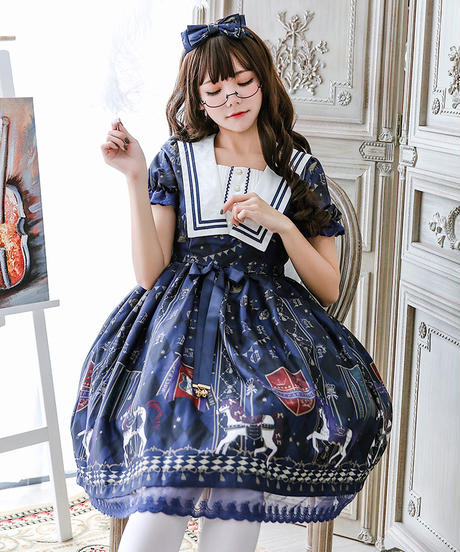 【d.Alice】ネイビー メリーゴーランド