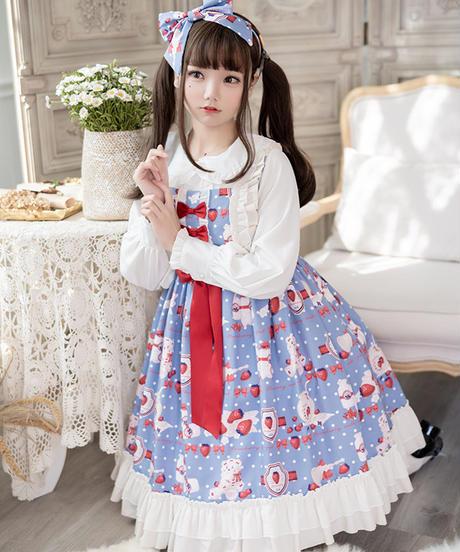 【d.Alice】いちごくまちゃんワンピース