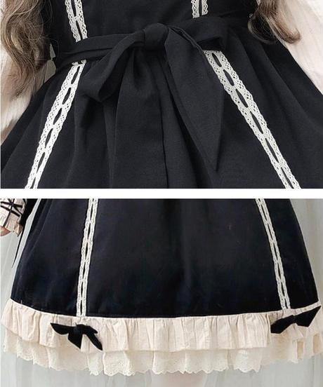 【d.Alice】クラシック蝶ネクタイワンピース(ブラック)