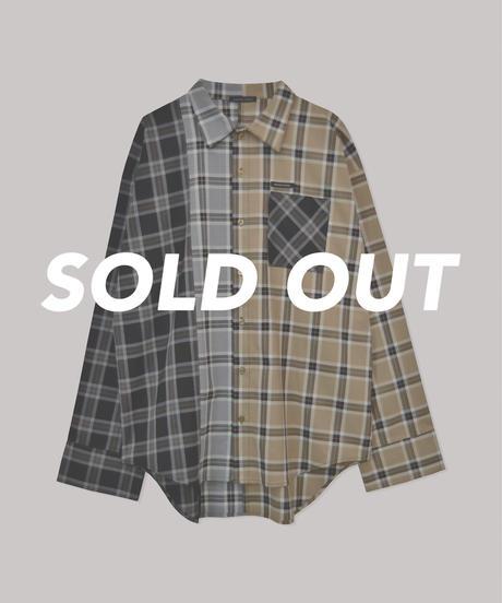 【UNISEX】チェックミックスシャツ AG211SH0102