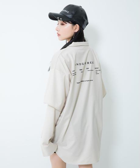 【UNISEX】レイヤードロゴシャツ AG211SH0201