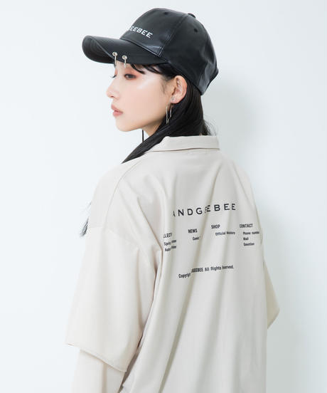 【UNISEX】フェイクレザーリングキャップ AG204BC1116