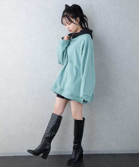 【UNISEX】バイカラーロゴパーカー AG211CS0104
