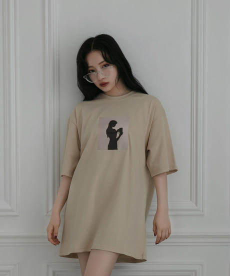 【UNISEX】シルエットTシャツ AG212CS0631