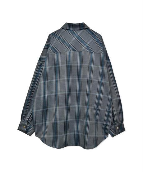 オーバーサイズチェックシャツ AG211SH0304