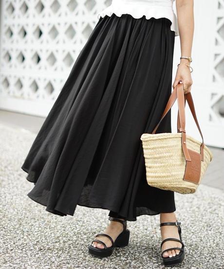 Flare Long Skirt