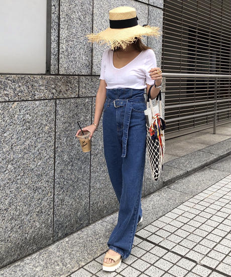 High-Waist Denim Pants