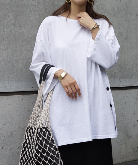 Side Button Big T-Shirt
