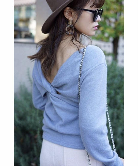 Back Cross Knit