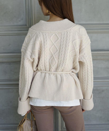 Volume Cable Knit J/T