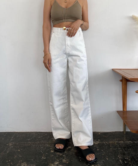 H/W White Denim Pants