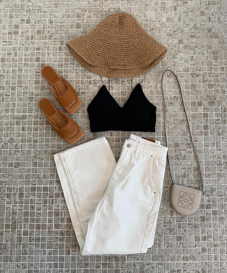 H/W White Denim Pants