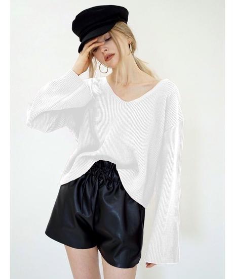 V-Neck Short Knit