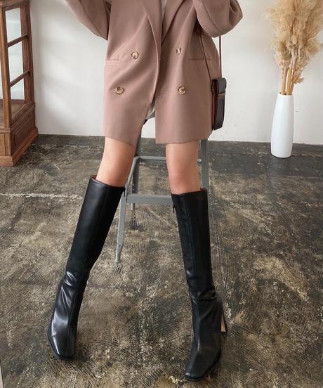 Square Toe Long Boots