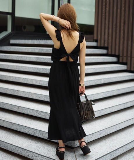 Back Ribbon One-piece