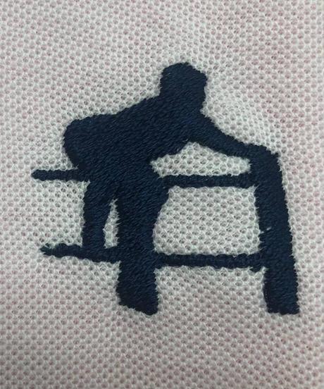 男色ディーノ刺繍地獄門ポロシャツ