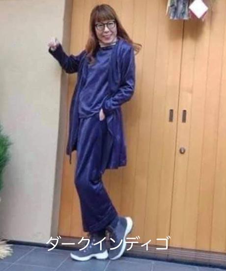 ボーイフレンドパンツ レギュラー丈 PBFR-01-SVEL ストレッチベロア Fサイズ UNISEX