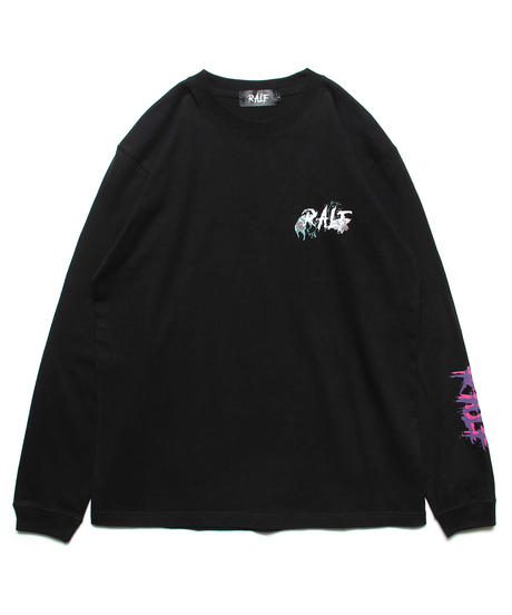 ロングスリーブTシャツ(BLK)