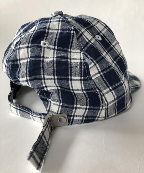 Linen Check Cap